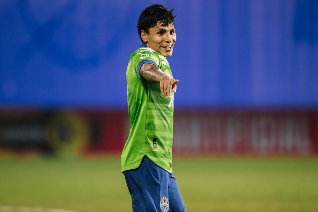 Seattle Sounders forward Raul Ruidiaz scored a second-half equalizer to help his team rally for a comeback win over Minnesota United in the 2020 Western Conference Final on Monday in Seattle. Photo courtesy of MLS/Matthew Stith and Eric Goncalves