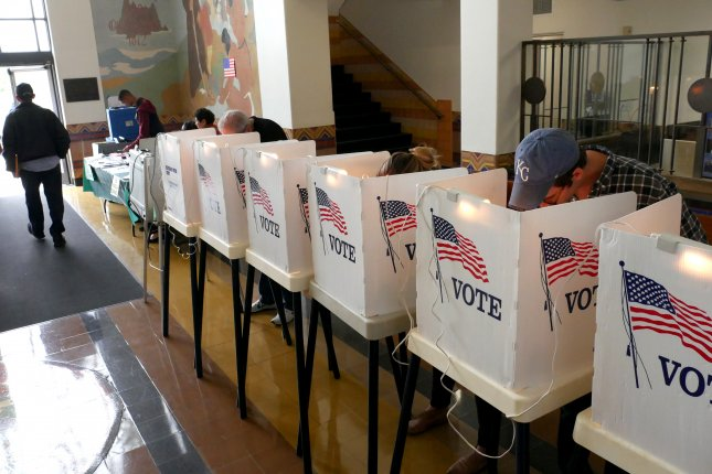 Voters head to the polls Tuesday for a special House election in Ohio and primaries in Kansas, Missouri, Michigan and Washington. File Photo by Mike Nelson/EPA-EFE