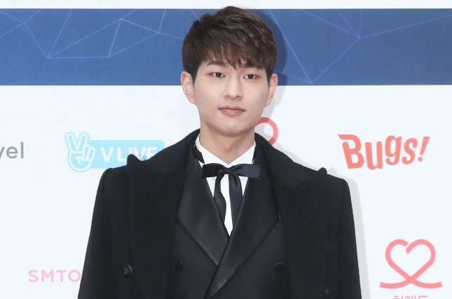 Onew released his debut solo album, Voice, and a moody music video for the single Blue on Wednesday. File Photo by Yonhap News Agency/EPA