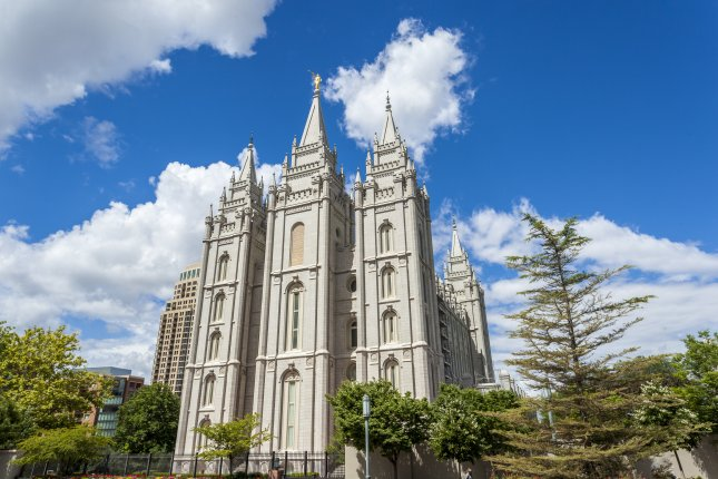 The Salt Lake Temple in Utah will shut its doors for four years starting Dec. 29. File Photo by Sopotnicki/Shutterstock