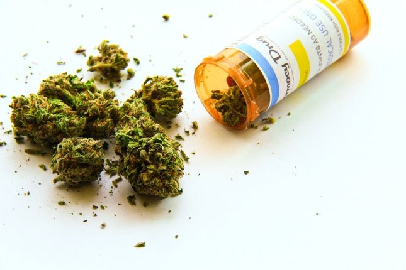 Bottle of marijuana. (UPI/Shutterstock/Atomazul)