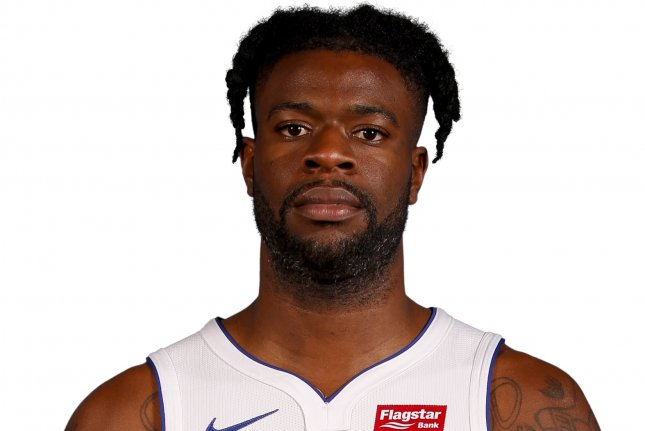 Detroit Pistons forward Reggie Bullock will be out at least one game due to an injury. Photo courtesy of the NBA
