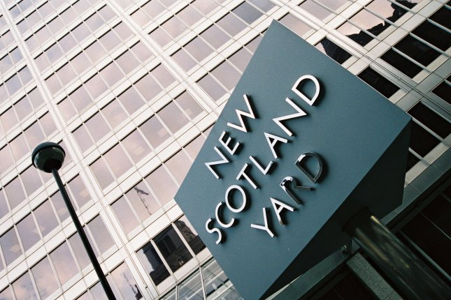 A man has been arrested after ramming his car into a Ukrainian diplomat's parked vehicle twice Saturday. New Scotland Yard (London Metropolitan Police)