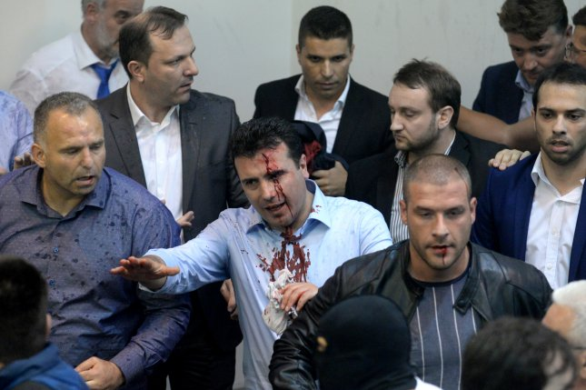 Macedonian opposition chief rejects emergency talks after parliament riot