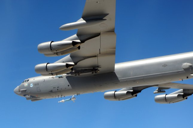 A B-52 Stratofortress from the 2nd Bomb Wing drops a Paveway II Plus LGB GBU-12 during a training mission at Hill Air Force Base in Utah. File photo courtesy U.S. Air Force