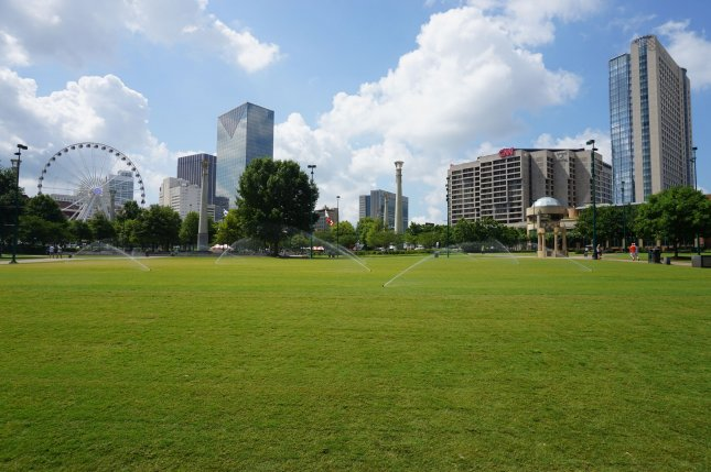 On July 27, 1996, a bomb exploded at Olympic Park in Atlanta during the Summer Games, killing two people and injuring more than 100 other people. File Photo by Michael Barera/Wikimedia