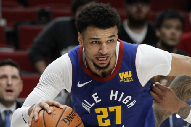 Denver Nuggets guard Jamal Murray has now averaged 47.3 points per game in his last three playoff games after he scored 50 points in a Game 6 win over the Utah Jazz Sunday in Orlando, Fla. Photo by Steve Dipaola/EPA-EFE