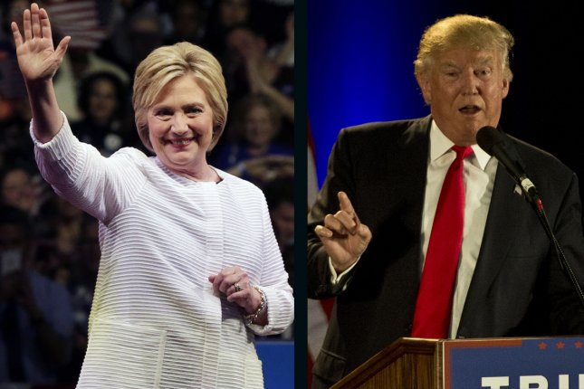 Hillary Clinton leads Donald Trump by 1.18 percentage points in the latest UPI/CVoter daily tracking poll released Wednesday. UPI file