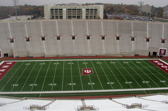 The Indiana Hoosiers and Purdue Boilermakers were scheduled to meet Friday at Memorial Stadium in Bloomington, Ind., but the game was canceled due to positive COVID-19 results. Photo by Durin/Wikimedia Commons