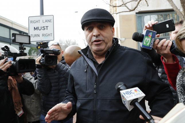 Al Salman, an uncle of Noor Salman, the wife of Orlando shooter Omar Mateen, speaks to news media outside federal court in Oakland, Calif., on Tuesday. The 30-year-old woman pleaded not guilty to two felony charges on Wednesday that accuse her of complicity in the massacre. Photo by John G. Mabanglo/European Pressphoto Agency