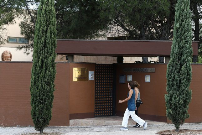 A former U.S. Marine who raided the North Korean Embassy in Madrid, Spain in 2019, faces extradition to the country. File Photo by Mariscal/EPA-EFE