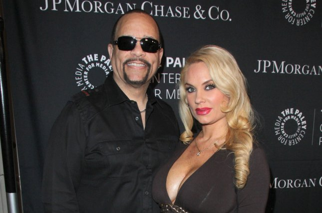 Coco Austin (R) and husband Ice-T at the Paley Center's Hollywood Tribute to African-Americans in TV on October 26, 2015. The couple welcomed daughter Chanel in November 2015. File Photo by Helga Esteb/Shutterstock