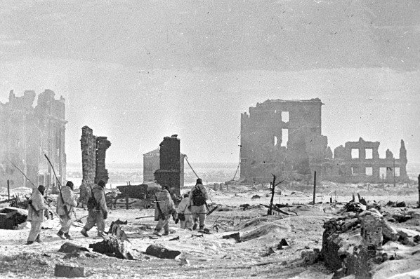 The center of the city of Stalingrad lies in ruins after liberation from the German occupation on February 2, 1943. File Photo courtesy RIA Novosti/Wikipedia