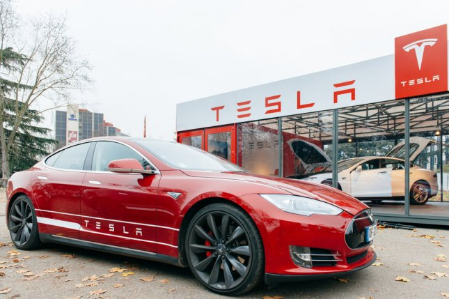 Suspension reliability issues in the Tesla Model S, pictured, were the cause of Tesla's ranking of 27th (of 29 car brands) on Consumer Reports' annual reliability list Wednesday. Photo by Hadrian / Shutterstock/UPI