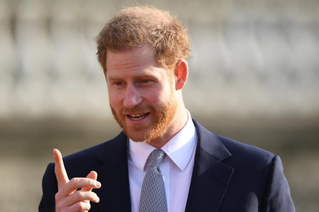 Prince Harry has been named chief impact officer at Silicon Valley startup BetterUp. File Photo by Neil Hall/EPA-EFE