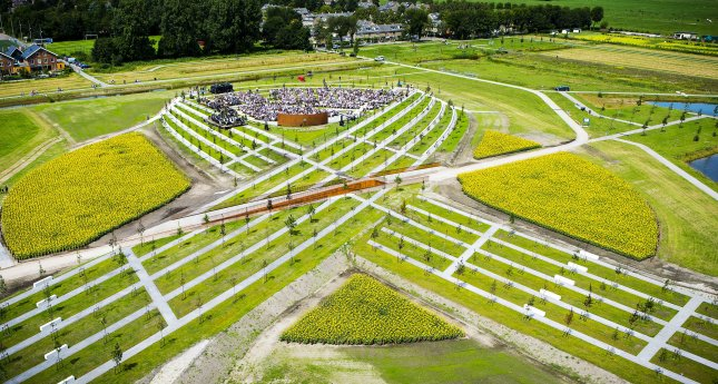 People visit a national monument for the victims of the Malaysia Airlines Flight 17 plane crash in Vijfhuizen, the Netherlands, on July 17, 2017. The crashed July 17, 2014, killing 298. File Photo by Frank van Beek/EPA