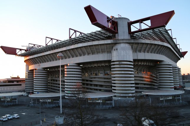 Giuseppe Meazza stadium, also known as San Siro, opened in 1926 in Milan, Italy. The 80,000-seat facility has hosted many important matches, including six games at the 1990 World Cup. Photo by Gernot Hensel/EPA-EFE