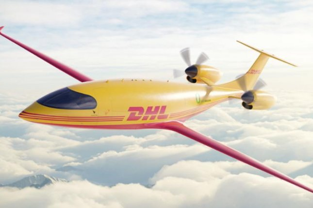 DHL said the electric fixed-wing planes, which can carry 2,600 pounds of cargo and travel 250 mph, will be used to deliver to certain U.S. markets.Photo courtesy DHL Express