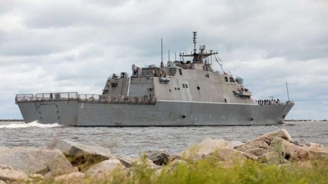 The littoral combat ship USS Sioux City departs Naval Station Mayport last week for deployment to support counter-narcotics operations in the U.S. Fourth Fleet area of operations. Photo by Mass Communication Specialist 3rd Class Aaron Lau/U.S. Navy