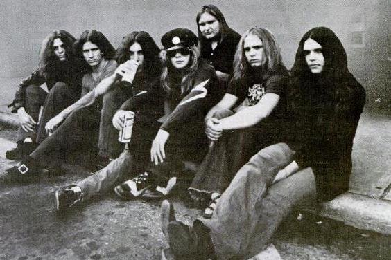 On October 20, 1977, members of Lynyrd Skynyrd, pictured in this December 8, 1975, advertisement in Billboard, were killed in the Mississippi crash of a plane chartered by the rock band. File Photo courtesy MCA Records