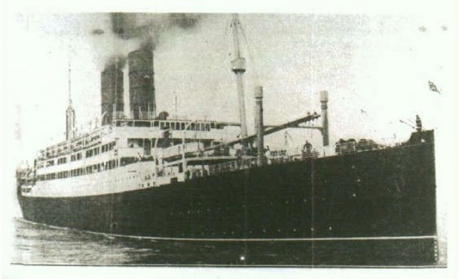 The SS Tuscania was torpedoed and sunk on February 5, 1918, as it carried U.S. troops to Europe. File Photo courtesy Wikimedia
