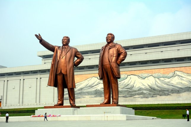 Kim Il Sung, North Korea's founder, and former North Korean leader Kim Jong Il both died on Dec. 17. The Mansudae is the most respected monument of the late leaders. Photo by Attila JANDI/Shutterstock