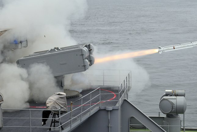 Raytheon has been awarded an $84.7 million contract modification to support production of the Evolved Sea Sparrow missile, which is pictured being launched from the USS Carl Vinson. Photo by Patric Green/US Navy