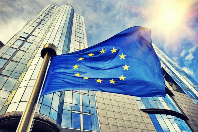 Implementing the new trade deal on a temporary basis will prevent British EU businesses from tariffs and limits for what they can export. File Photo by symbiot/Shutterstock/UPI