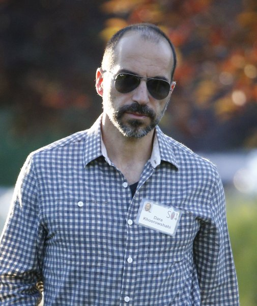 Dara Khosrowshahi arrives for the Allen and Company 32nd Annual Media and Technology Conference in Sun Valley, Idaho on July 9, 2014. Khosrowshahi, the head of travel site Expedia, was named Uber's new CEO on Sunday. Photo by Andrew Gombert/EPA