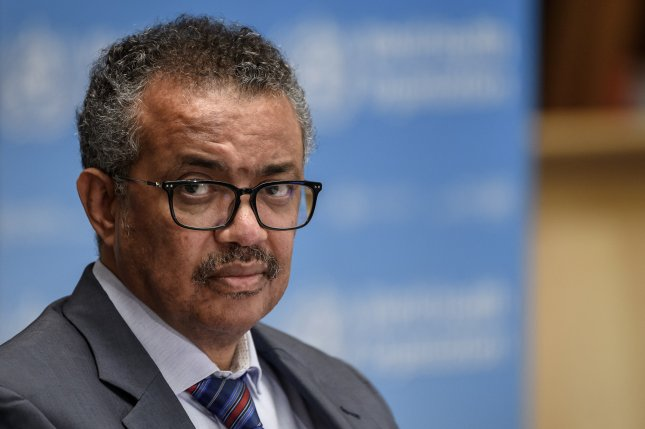 WHO director-general Tedros Adhanom Ghebreysus said Monday there may not ever be a silver bullet cure for COVID-19, encouraging the nations of the world to take necessary precautions to prevent the spread of the virus. File Photo by Fabrice Coffrini/EPA-EFE