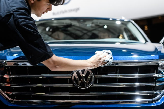 Germany's economy shrank in the second quarter as demand for automobiles fell. File Photo by Clemens Bilan/EPA-EFE