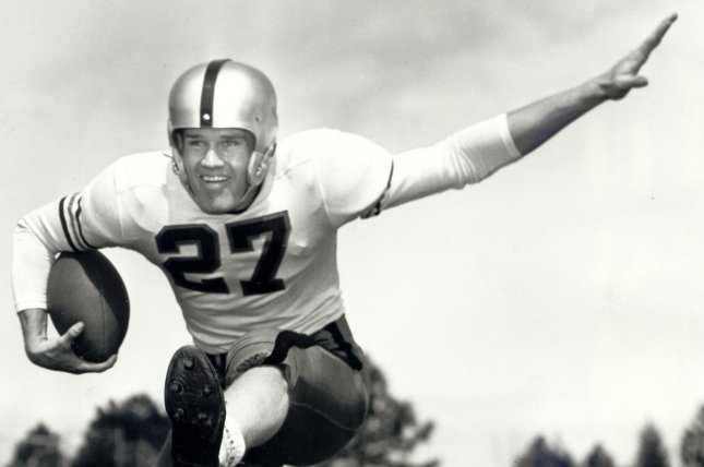 Carroll Hardy, shown in 1955, starred in football, baseball and track at Colorado before he joined the NFL and MLB and later became a front-office executive for the Denver Broncos. Photo courtesy of the University of Colorado
