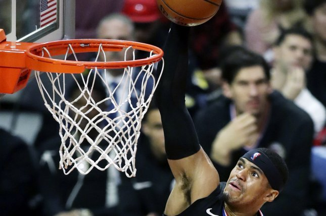 Los Angeles Clippers forward Tobias Harris was traded to the Philadelphia 76ers following a win against the Charlotte Hornets on Tuesday in Charlotte, N.C. Photo by Mike Nelson/EPA-EFE
