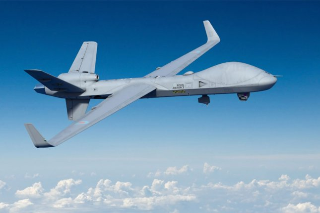 Britain has invested $268 million for another 13 Protector drone aircraft, Defense Minister Jeremy Queen announced Thursday during a visit to the GKN Aerospace. Photo courtesy of General Atomics Aeronautical Systems