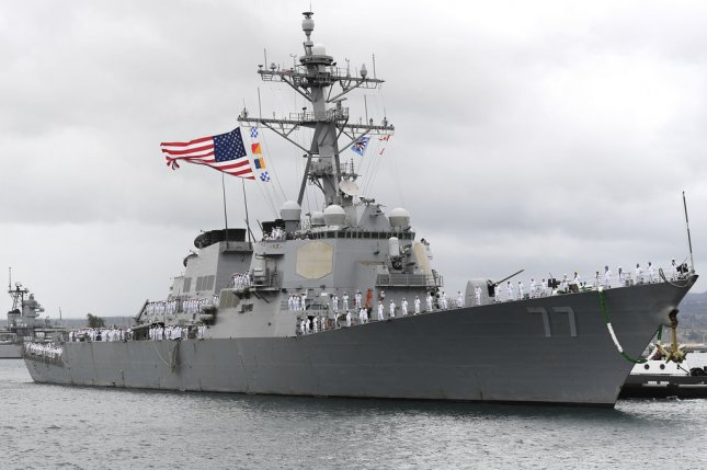 The guided-missile destroyer USS O'Kane returned from deployment to Joint Base Pearl Harbor-Hickam on June 4, 2018. The vessel had been on an independent deployment to the Western Pacific in support of theatre operations. Photo by Mass Communication Specialist 1st Class Holly L. Herline/U.S. Navy