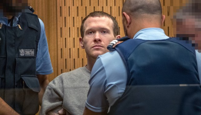Brenton Tarrant was sentenced to life in prison without parole on Thursday, the harshest sentence New Zealand has ever down, for killing 51 people in March 2019 when he opened fire on two Christchurch mosques. Photo by John Kirk-Anderson/EPA-EFE