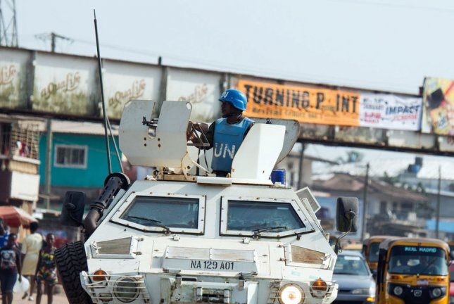 Though U.N. peacekeepers are departing from Liberia after a 15-year mission there, the United Nations said it will keep officials in the country to assist the government with establishing peace and reforms. File Photo by Albert González Farran/United Nations