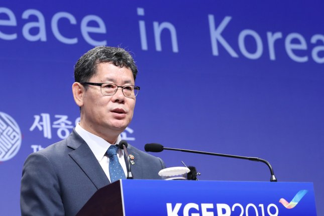 South Korean Unification Minister Kim Yeon-chul said Monday hundreds of South Korean containers have been left neglected on Mount Kumgang in North Korea. File Photo by Yonhap