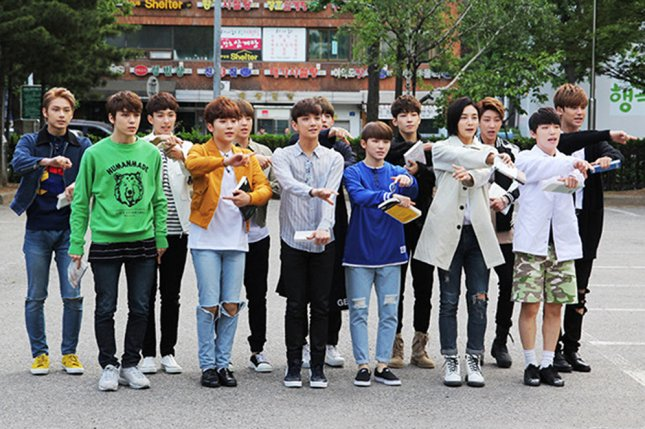 Seventeen films its Ready to Love music video in a new behind-the-scenes video. Seventeen going to a recording in May 2016. Photo by Jin-gook/Wikicommons