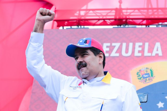Speaking Friday, Vice President Mike Pence criticized the government of Venezuelan President Nicolas Maduro, shown here in March 2019. File Photo EPA-EFE/Prensa Miraflores/Handout