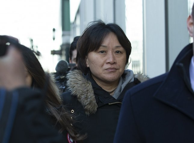 Xiaoning Sui of Surrey, British Columbia, Canada, is seen leaving the John Joseph Moakley Federal Courthouse after entering a plea in connection with the college admissions scandal in Boston, Massachusetts, in February. Photo by CJ Gunther/EPA-EFE