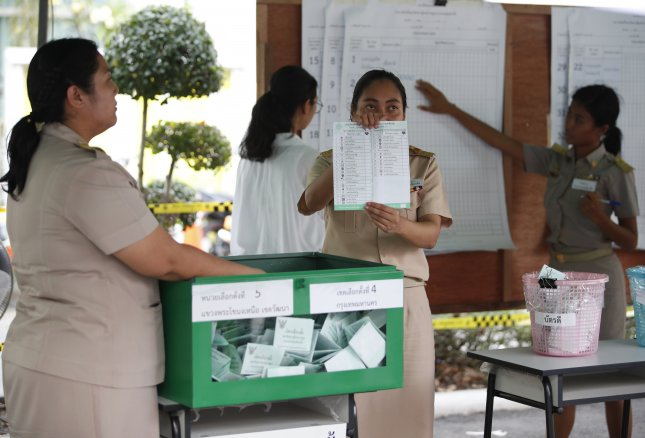 Early results from Thailand's elections on Sunday didn't provide clear results of which party would hold a majority of seats in the country's parliament. Rungroj Yongrit/EPA