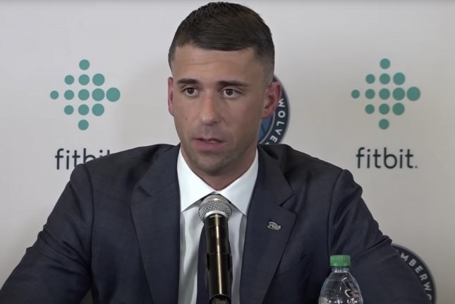 Ryan Saunders, who was fired Sunday, posted a 43-94 record in three seasons as coach of the Minnesota Timberwolves. Screenshot from the Minnesota Timberwolves/YouTube