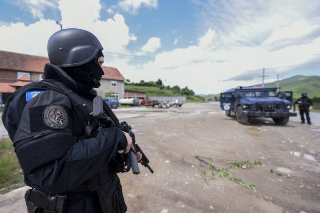 Kosovar special forces secure the area near the village of Cabra, northern Kosovo, on Tuesday. Photo courtesy of EPA-EFE