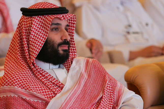 Saudi Crown Prince Mohammed bin Salman attends a session at the Saudi Arabia's investment conference, in Riyadh, Saudi Arabia, Oct. 23. Photo by Fares Ghaith/EPA-EFE