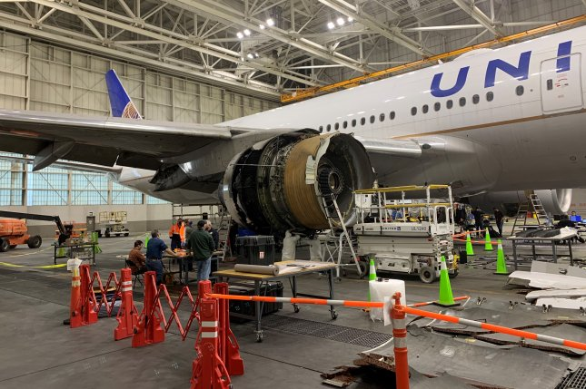 United Airlines Flight 328 experienced a right engine failure February 20 after takeoff from Denver International Airport. The Boeing 777-200 returned safely to Denver, with no injuries among the 239 people on board. Photo courtesy of the National Transportation Safety Board