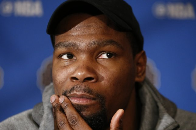 Golden State Warriors F Kevin Durant speaks to the media during NBA All-Star media availability at the Ritz Carlton on Feb. 17, 2017 in New Orleans, Louisiana. EPA/LARRY W. SMITH