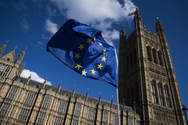 Analysts said the effects of Britain's pending departure from the EU affected the economy over the last three months of 2019. File Photo by Will Oliver/EPA EFE