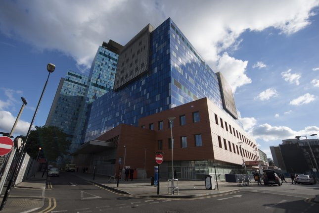 The Royal London Hospital is seen in central London, Britain. A government report Thursday said wait times at British emergency rooms are the longest they've been since 2004. File Photo by Will Oliver/EPA-EFE