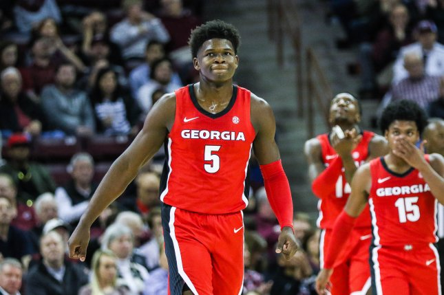 Former Georgia guard Anthony Edwards (5) averaged 19.1 points per game and was the Southeastern Conference freshman of the year in his lone season at Georgia. Photo courtesy of Wikimedia Commons